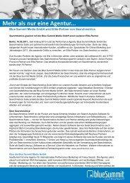 Blue Summit Media GmbH wird Elite-Partner von ... - blueSummit.de