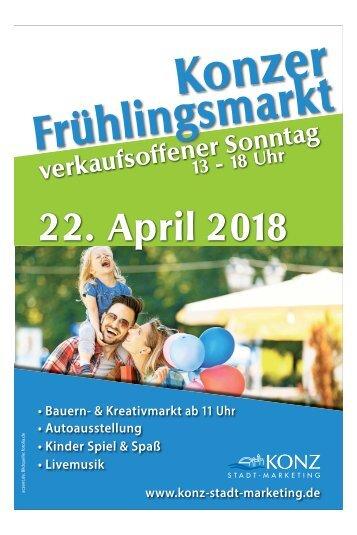 Konzer Frühlingsmarkt 22. April 2018