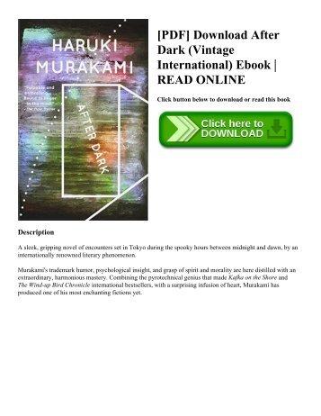 [PDF] Download After Dark (Vintage International) Ebook  READ ONLINE