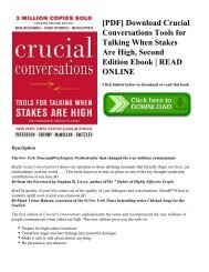 [PDF] Download Crucial Conversations Tools for Talking When Stakes Are High  Second Edition Ebook  READ ONLINE