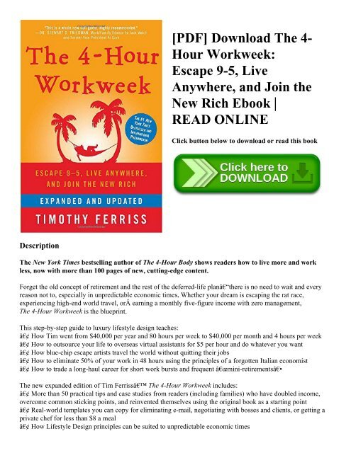 The 4 Hour Workweek Expanded And Updated Pdf