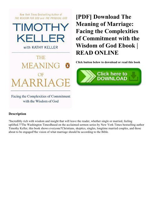 pdf download the meaning of marriage facing the complexities of