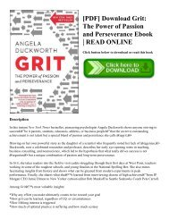 [PDF] Download Grit The Power of Passion and Perseverance Ebook  READ ONLINE