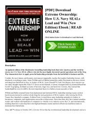 [PDF] Download Extreme Ownership How U.S. Navy SEALs Lead and Win (New Edition) Ebook  READ ONLINE
