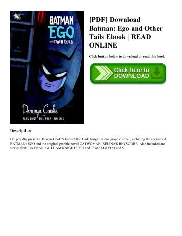 [PDF] Download Batman Ego and Other Tails Ebook  READ ONLINE
