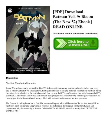 [PDF] Download Batman Vol. 9 Bloom (The New 52) Ebook  READ ONLINE