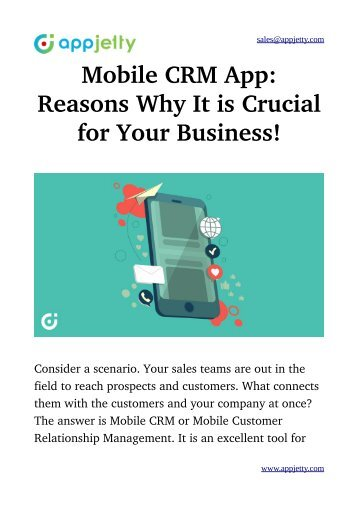 Mobile CRM App: Reasons Why It is Crucial for Your Business!