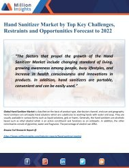 Hand Sanitizer Market Outlook, Trends and Top Opportunities