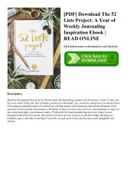 [PDF] Download The 52 Lists Project A Year of Weekly Journaling Inspiration Ebook  READ ONLINE