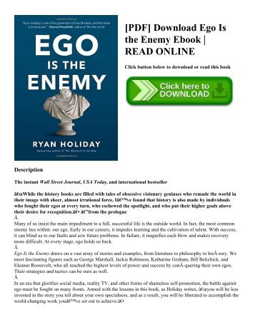 [PDF] Download Ego Is the Enemy Ebook  READ ONLINE