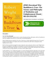 [PDF] Download Why Buddhism is True The Science and Philosophy of Meditation and Enlightenment Ebook  READ ONLINE