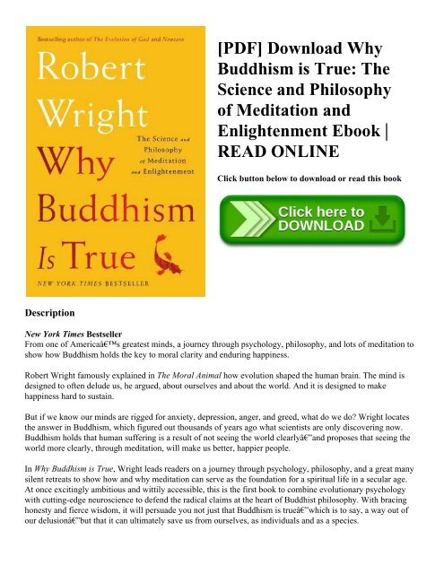 PDF] Download Why Buddhism is True The Science and