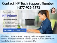 HP Printer Tech Support 1-877-929-3373 Toll Free Customer Service Numbers