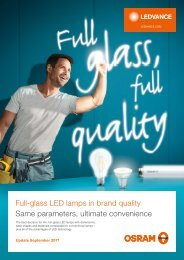 LED lamps brochure