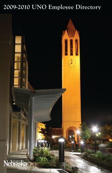 2009-2010 UNO Employee Directory - University of Nebraska