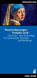 Carl-Auer Verlag Neuerscheinungen Frühjahr 2018