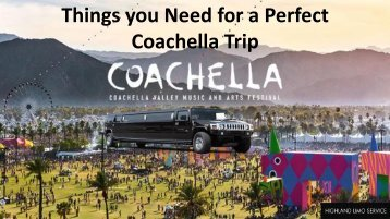 Things you Need for a Perfect Coachella Trip
