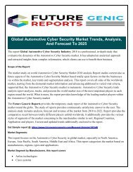 Global Automotive Cyber Security Market  Trends in 2024 —What industry insiders tell Us about the future forecast