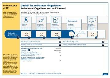 Pflegedienst Herz und Verstand - Transparenzbericht