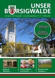 Unser Borsigwalde (Frühling 2018)