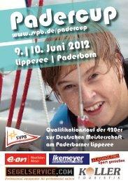 Ausschreibung 420er Padercup 2012 - Segler-Verein Paderborn