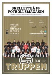 Skellefteå FF Fotbollsmagasin – 2018 #1
