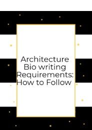Architecture Bio Writing Requirements: How to Follow