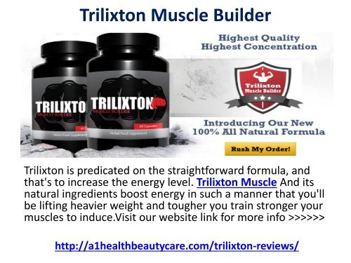 Trilixton Muscle Builder Reviews Really Works