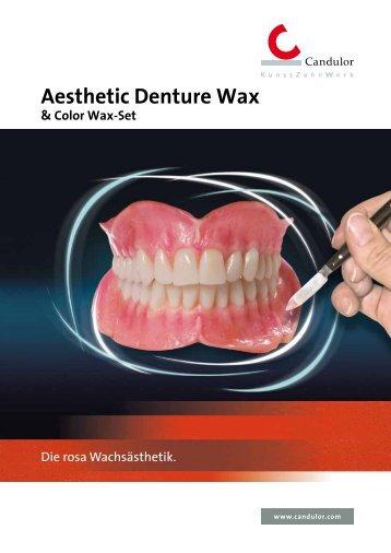 Aesthetic Denture Wax - Candulor
