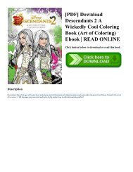 [PDF] Download Descendants 2 A Wickedly Cool Coloring Book (Art of Coloring) Ebook  READ ONLINE