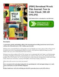 [PDF] Download Wreck This Journal Now in Color Ebook  READ ONLINE
