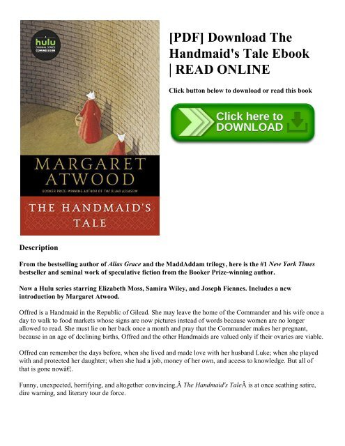 Pdf Download The Handmaid S Tale Ebook Read Online