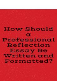 How Should a Professional Reflection Essay Be Written and Formatted