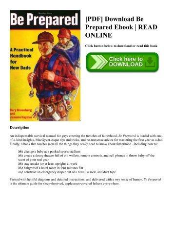 [PDF] Download Be Prepared Ebook  READ ONLINE