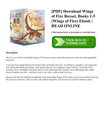 [PDF] Download Wings of Fire Boxset  Books 1-5 (Wings of Fire) Ebook  READ ONLINE