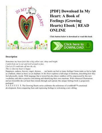 [PDF] Download In My Heart A Book of Feelings (Growing Hearts) Ebook  READ ONLINE