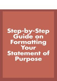 Step-by-Step Guide on Formatting Your Statement of Purpose