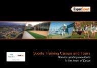 Expat Sport: Dubai Sports Tours for Professionals, Corporate & Schools