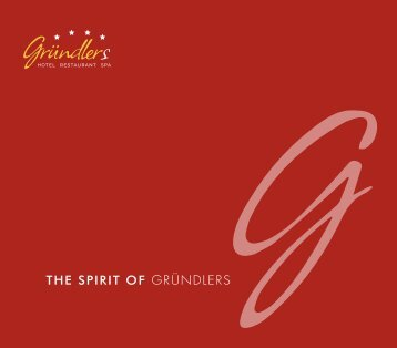 The Spirit of Gründlers Haus prospekt