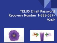 Telus Email Password Recovery Number 1-888-578-9269 | Reset