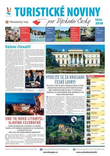 Turistické noviny pro Východní Čechy - léto 2018