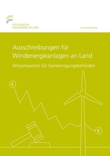 Ausschreibungen Wind an Land - Wissenswertes fuer Behoerden