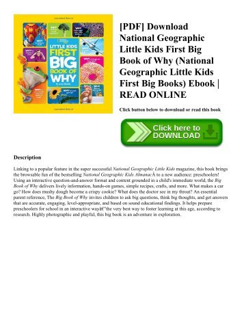 [PDF] Download National Geographic Little Kids First Big Book of Why (National Geographic Little Kids First Big Books) Ebook  READ ONLINE