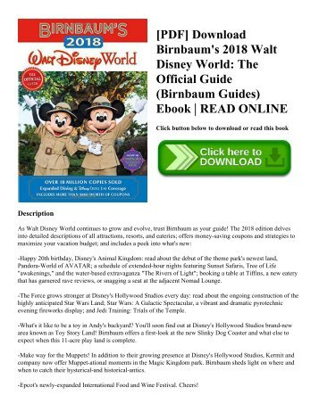 Pdf download guinness world records 2018 meet our real life pdf download birnbaums 2018 walt disney world the official guide birnbaum guides fandeluxe Image collections