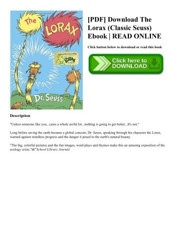 [PDF] Download The Lorax (Classic Seuss) Ebook  READ ONLINE