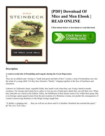 [PDF] Download Of Mice and Men Ebook  READ ONLINE