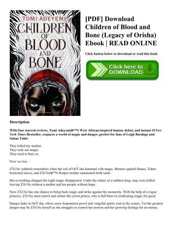 [PDF] Download Children of Blood and Bone (Legacy of Orisha) Ebook  READ ONLINE