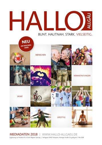 Hallo Allgäu - Mediadaten 2018