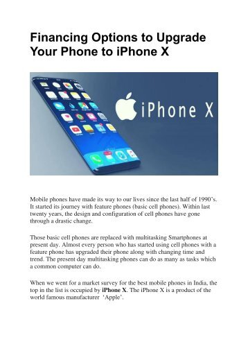Financing Options to Upgrade Your Phone to iPhone X