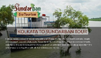 Kolkata to sundarban tour